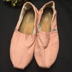 TOMS-Pink, Size: 11-Slip On Shoes